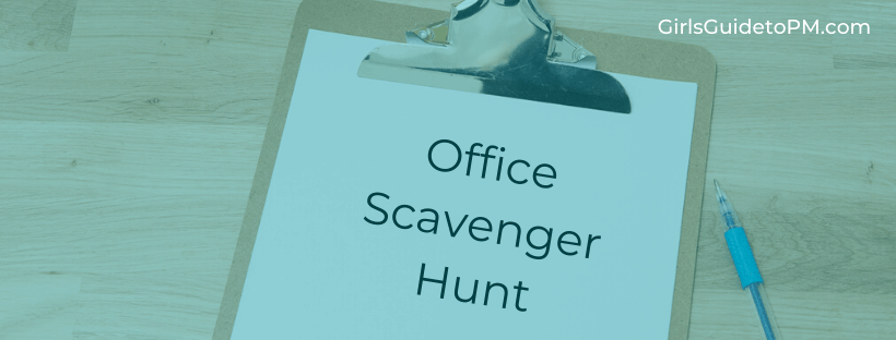 Scavenger Hunt Team Building: Win all the PM document templates you need